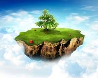 Terra do céu Foto de Stock