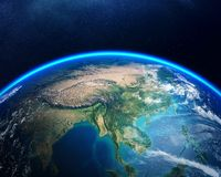 Terra do espaço Ásia Fotografia de Stock Royalty Free