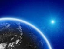 Terra do espaço foto de stock