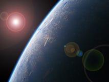 A terra do espaço Foto de Stock
