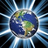 Terra do espaço Fotografia de Stock