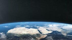 Terra do espaço, Europa, África, Ásia ilustração royalty free