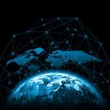Terra do espaço O melhor conceito do Internet do negócio global da série dos conceitos Elementos desta imagem fornecidos perto Fotografia de Stock