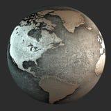 terra do ferro 3D Foto de Stock Royalty Free
