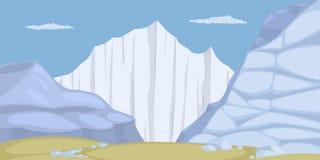 Terra do gelo Imagens de Stock Royalty Free