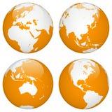 Terra do globo do mundo Imagem de Stock