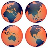 Terra do globo do mundo Imagens de Stock
