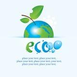 Terra do planeta como uma maçã Fotografia de Stock Royalty Free