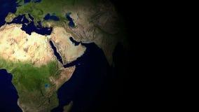 Terra do planeta do molde do cartão Terra do planeta ilustração stock
