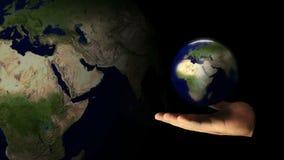 Terra do planeta do molde do cartão Terra que gira à disposição ilustração royalty free