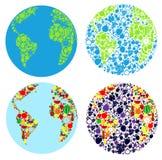 Terra do planeta dos frutos Foto de Stock Royalty Free