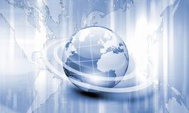 Terra do planeta e fundo da tecnologia ilustração royalty free