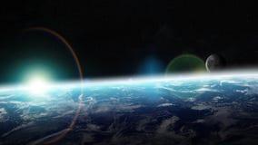 Terra do planeta em elementos da rendição do espaço 3D de furnis desta imagem Imagens de Stock
