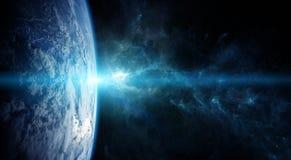 Terra do planeta em elementos da rendição do espaço 3D de furnis desta imagem Imagem de Stock Royalty Free