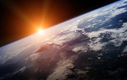 Terra do planeta em elementos da rendição do espaço 3D de furnis desta imagem Fotografia de Stock Royalty Free