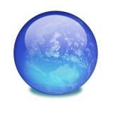 Terra do planeta em um mármore brilhante Imagens de Stock Royalty Free