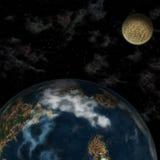 Terra do planeta no espaço Fotografia de Stock