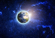 Terra do planeta no espaço Fotografia de Stock Royalty Free