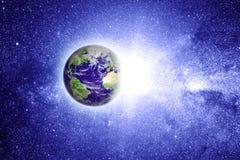 Terra do planeta no espaço Fotos de Stock Royalty Free