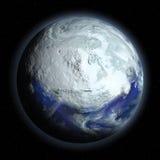 Terra do planeta no período glacial ilustração royalty free
