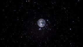 Terra do planeta que aproxima-se lentamente ilustração stock