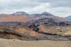 Terra dos vulcões fotografia de stock royalty free