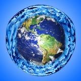 Terra e água Imagem de Stock Royalty Free