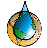 Terra e água Fotografia de Stock