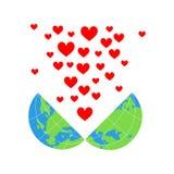 Terra e amor Fotografia de Stock