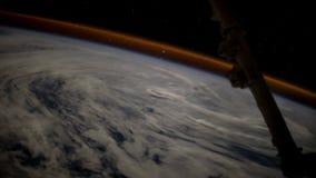 Terra e Aurora Borealis dall'ISS Elementi di questo video ammobiliato dalla NASA illustrazione di stock