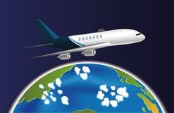 Terra e avião Imagens de Stock Royalty Free