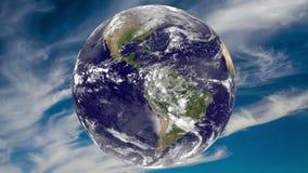 Terra e céu azul Elementos desta imagem fornecidos pela NASA ilustração do vetor