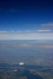 Terra e cielo Fotografie Stock