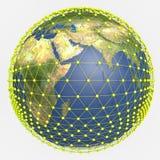 Terra e conexões do planeta Imagens de Stock Royalty Free