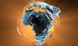 Terra e continentes do planeta Imagem de Stock