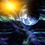 Terra e espaço do planeta Fotos de Stock