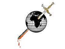Terra e espada Ilustração do Vetor