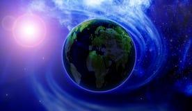 Terra e estrelas Fotos de Stock Royalty Free