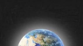 Terra e estrelas do planeta ilustração do vetor
