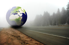 Terra e a floresta fotografia de stock