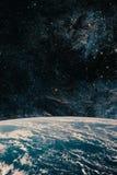 Terra e galassia Spazio del cielo notturno fotografie stock