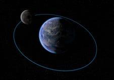 Terra e la luna Immagine Stock
