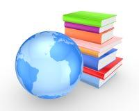Terra e livros coloridos. Fotos de Stock Royalty Free