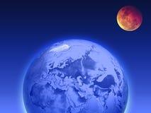 Terra e a lua Imagens de Stock Royalty Free
