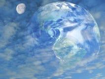 Terra e a lua Imagem de Stock Royalty Free