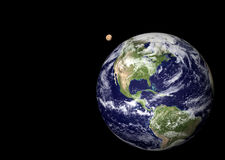 Terra e lua Foto de Stock Royalty Free
