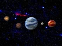 Terra e lua no espaço Foto de Stock Royalty Free