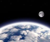Terra e luna Fotografia Stock