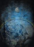 Terra e luna   Fotografie Stock