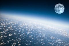 Terra e luna del pianeta Immagine Stock Libera da Diritti